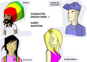 CHARACTER DESIGN SHEET by harrynotlarry