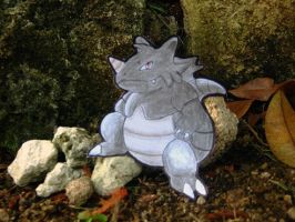 Papermon 112 - Rhydon by whispered-dream