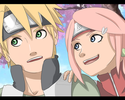 Naruto AU - Shinachiku and Hanami by Kirabook