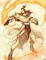 AVATAR - Ozai Sketch by GENZOMAN