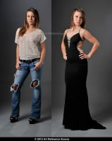 One Model Two Looks  - Stock by ArtReferenceSource