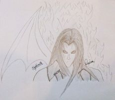 Sephiroth Sketch by mdpshow