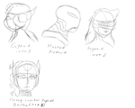 Gynoids and one android OC concept sketches by Gtapia91