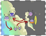 Life cycle of Dungeness Crab by kalany