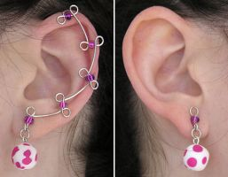 Cotton Candy Ear Vines by lavadragon