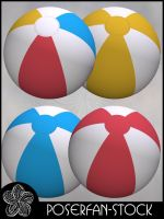 Beach Balls 002 by poserfan-stock