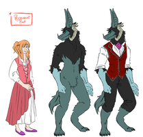 Bubbline Beauty and the Beast redesign by PeppermintBat