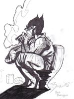 Wolverine taking a crap by benzaie