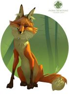 Golden Fox by Noukah
