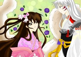 Rin y Sesshomaru by KarinaAvitia