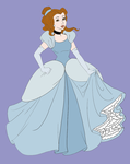 Belle as Cinderella by Zanny-Marie