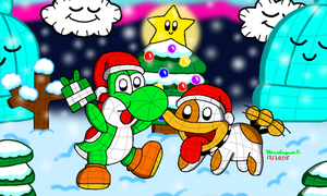 Yoshi's Woolly Christmas by MarioSimpson1