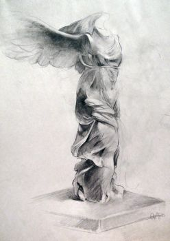 Winged Victory in Graphite by yolque