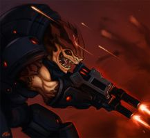 Krogan Soldier by Zeon-in-a-tree