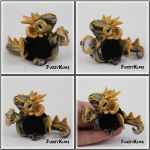 Polymer Clay Gold Silver Dragon by KIMMIESCLAYKREATIONS
