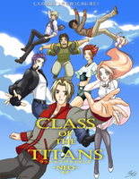 Class of the Titans Anime promotional poster by Flapinko