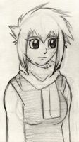 Shell The Human No Colour by Zander-The-Artist