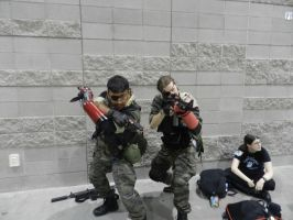 Phoenix Comicon 2015 MGS5-Twin Snakes by Demon-Lord-Cosplay