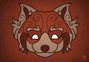Red panda mask by Adele-Waldrom