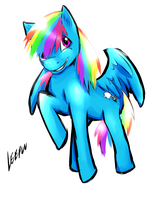 Rainbow Dashie by Leefuu