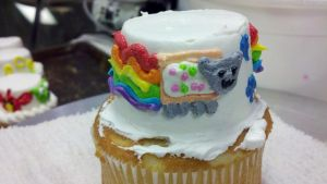 Nyan cupcake by emptycerealbowl