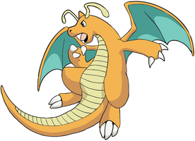 Random Anime-style Dragonite by Chibi-Pika