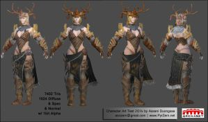 Character Art Test 2014 Assani Duongsaa - 01 by PyrZern