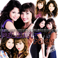 Delena Pack (Demi Lovato and Selena Gomez) by LoveIsLouderEditions