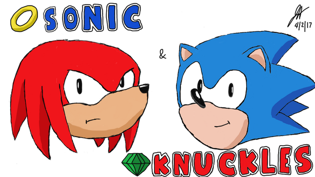 Sonic and Knuckles by Luigidrawer98