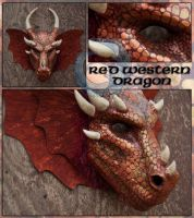 Red Western Dragon Mask by crocodiledreams