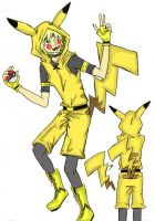 Gijinka!Pikachu Cosplay - Sketch #1 by artemisroseshadow
