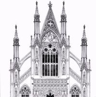 gothic facade by dashinvaine