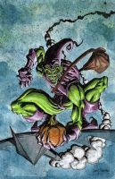 Green Goblin 11x17 canvas by G-Ship