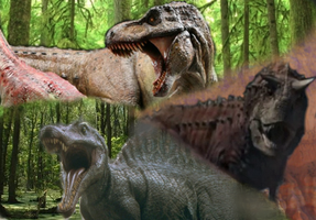 Theropod wallpaper by TheSpiderAdventurer