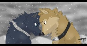 Hige and Blue by AriaDog