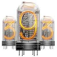 Steampunk Nixie Tube No. 9 Icon by yereverluvinuncleber