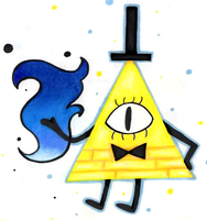 Gravity Falls - Bill Cipher by The-Sacred-Rose