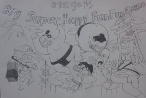 The simpsons game stage 14 by komi114