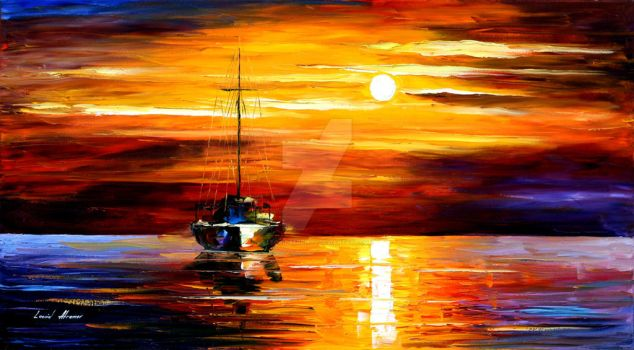 Sea Shadows by Leonid Afremov by Leonidafremov
