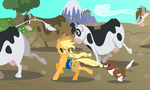 Applejack in Action by Kittita
