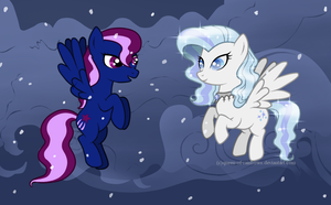 Night Wink and Snow Glimmer by queen-of-rainbows