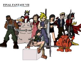 Final Fantasy VII by FearTheMeatball