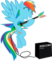 Rainbow Dash - Let's rock! by AweRanger
