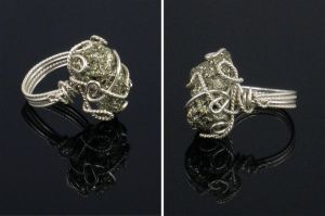 Pyrite Nugget Ring by AniqueDesigns