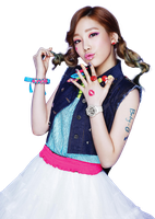 SNSD Kiss Me (Baby-G) Taeyeon Render by classicluv