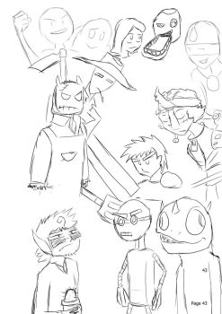 OMG OCT Auditioner Sketchies 2 by huffnut