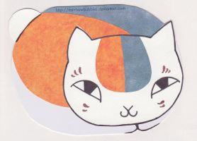 Nyanko sensei birthday card by Rainbowbubbles