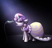 Sweetie belle by wingedwolf94
