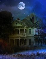 House at Night - RESTRICTED by AngeliaStocks