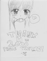 THANK YOU FOR THE 2,000 PAGE VIEWS! by SkullCupcakez